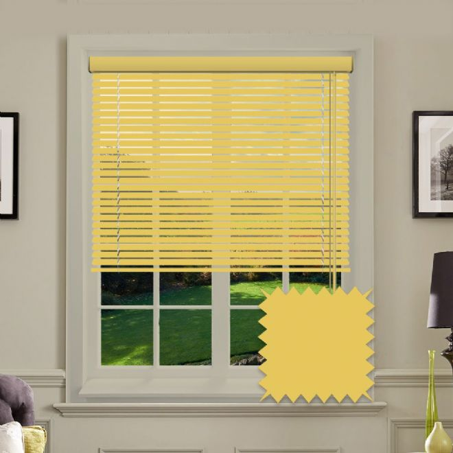 Warm Yellow venetian blind - Just Blinds